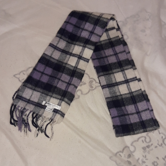 Club Room Unisex Scarf Checkered 100/% Cashmere OS New